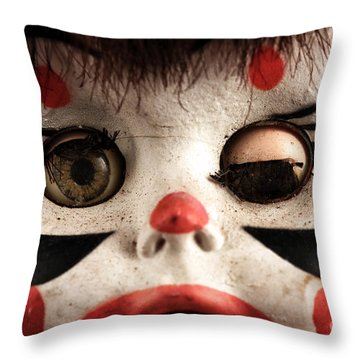 Throw Pillow featuring the photograph One Eye Shut by John Rizzuto