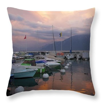 One Fine Evening Throw Pillow by Colleen Williams