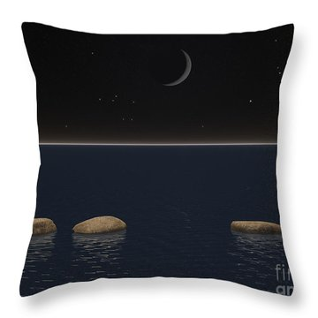 One Giant Leap For Mankind Throw Pillow by Phil Perkins