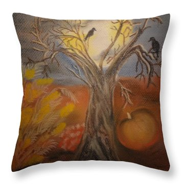 One Hallowed Eve Throw Pillow by Maria Urso