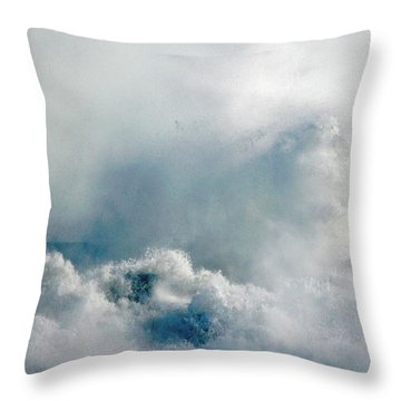 One Heck Of A Wave  Throw Pillow