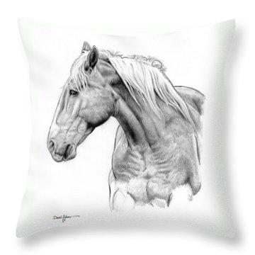 Da134 One Horse Daniel Adams  Throw Pillow