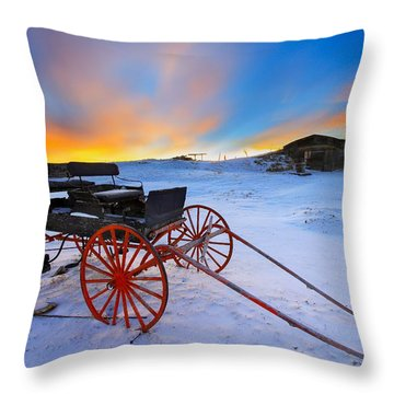 One Horsepower Throw Pillow