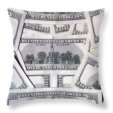 One Hundred Dollar - Backs Throw Pillow