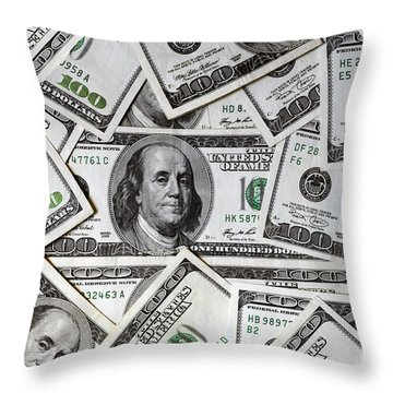 One Hundred Dollar - Fronts Throw Pillow
