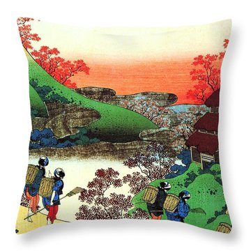 One Hundred Poems - Landscape Throw Pillow