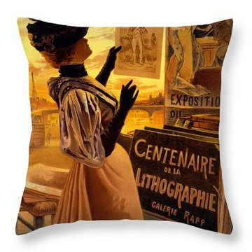 One Hundred Years Of Lithography Throw Pillow