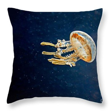 One Jelly Fish Art Prints Throw Pillow