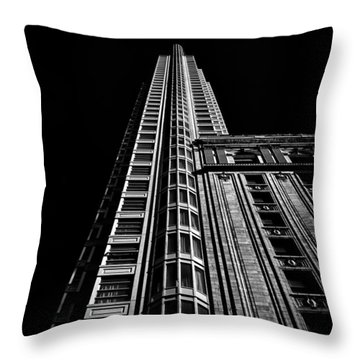 One King Street West Toronto Canada Throw Pillow by Brian Carson