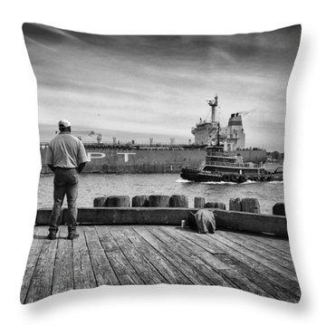 One Last Look Throw Pillow by Bob Orsillo