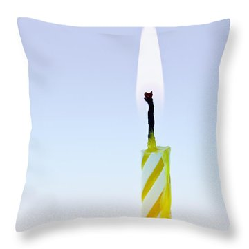 One Lit Candle Throw Pillow by Elena Elisseeva