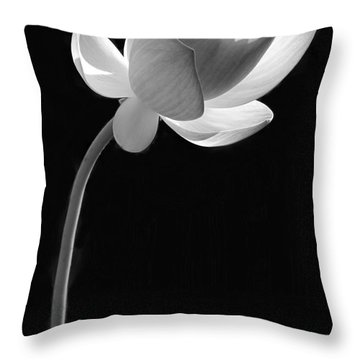 One Lotus Bud Throw Pillow