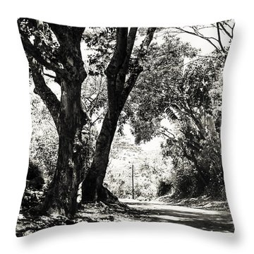 One Lovely Day Throw Pillow by Jenny Rainbow