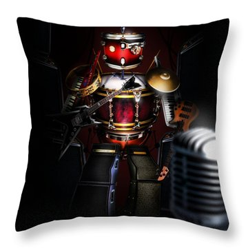 One Man Band Throw Pillow