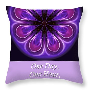 Throw Pillow featuring the photograph One Moment At A Time by Beth Sawickie