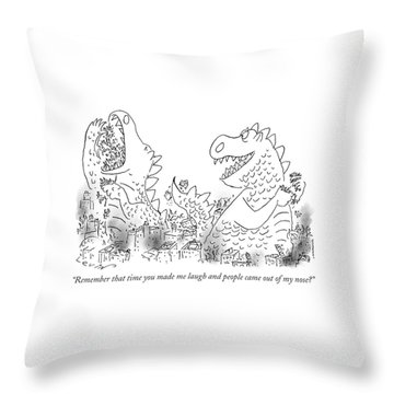 One Monster Devouring A City Throw Pillow