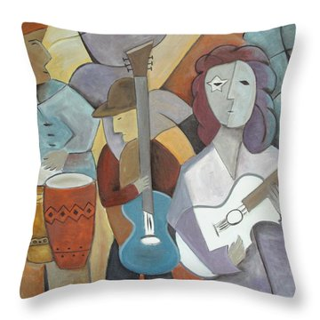 One More Kiss In Plaza Caracol Throw Pillow