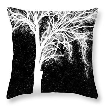One More Tree Throw Pillow