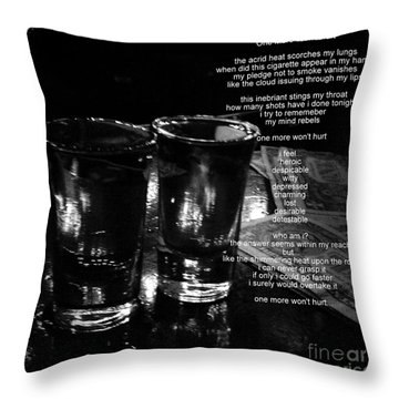 Throw Pillow featuring the photograph One More Won't Hurt by James Aiken