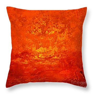 One Night In Old Shanghai By Rjfxx.-original Minimalist Abstract Art Painting Throw Pillow by RjFxx at beautifullart com