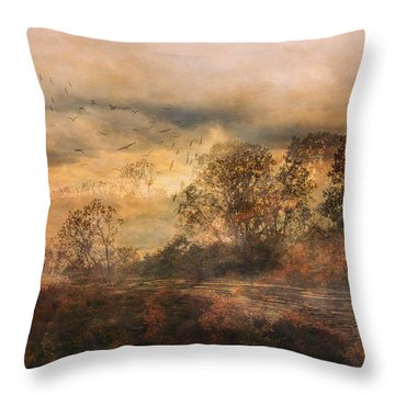 One October Day Throw Pillow
