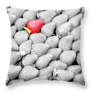 One Of A Kind Throw Pillow by Mariarosa Rockefeller