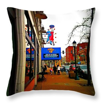 One Of Ten Great Streets Throw Pillow by Kelly Awad