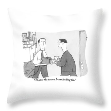 One Office Worker Throw Pillow