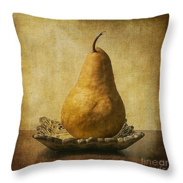 One Pear Meditation Throw Pillow