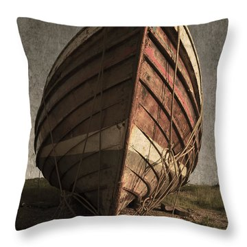 One Proud Boat Throw Pillow by Svetlana Sewell