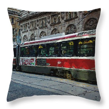 One Queen East Throw Pillow