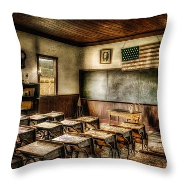 One Room School Throw Pillow