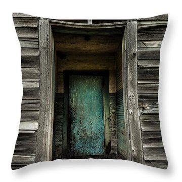 One Room Schoolhouse Door - Damascus - Pennsylvania Throw Pillow