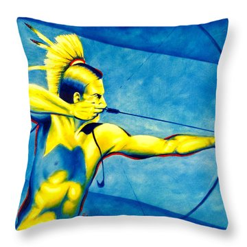 One Shot Throw Pillow by Robert Martinez
