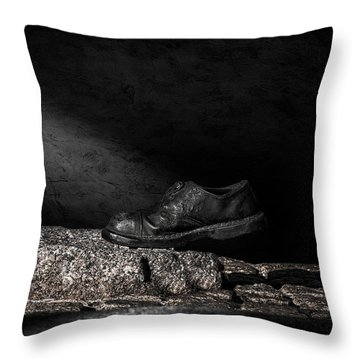 One Step Throw Pillow by Bob Orsillo