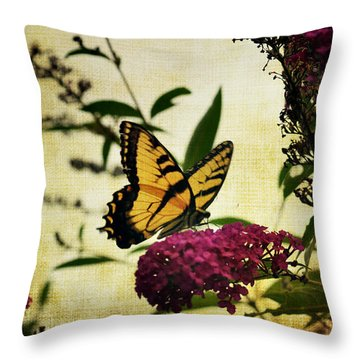 One Summer Day  2 Throw Pillow by Judy Wolinsky