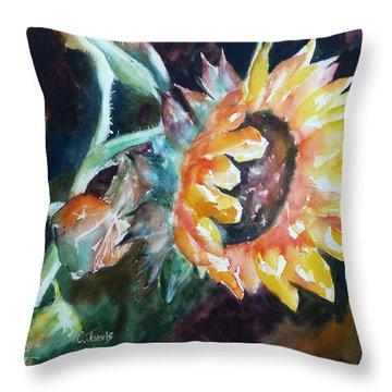 One Sunflower Throw Pillow