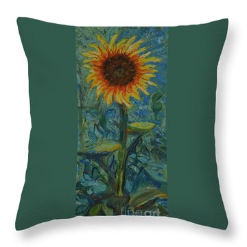 One Sunflower - Sold Throw Pillow
