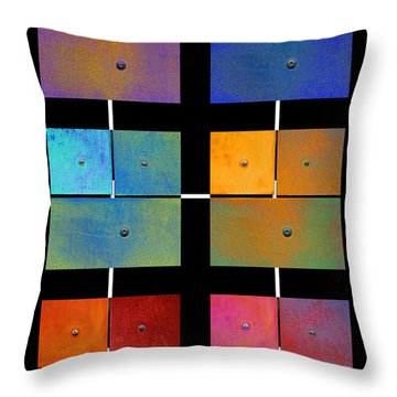 One To Eighteen - Colorful Rust - All Colors Throw Pillow