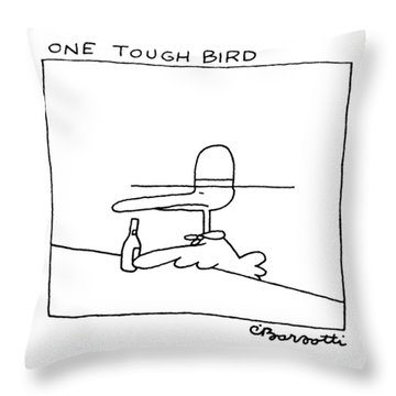 One Tough Bird Throw Pillow