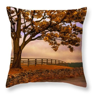 One Tree Hill Throw Pillow by Lois Bryan