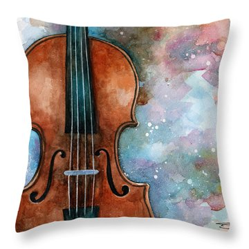 One Voice In The Cosmic Fugue Throw Pillow