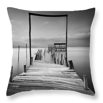 One Way Throw Pillow