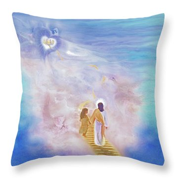 One Way To God Throw Pillow by Susanna  Katherine