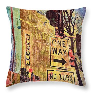 One Way To Uptown Throw Pillow