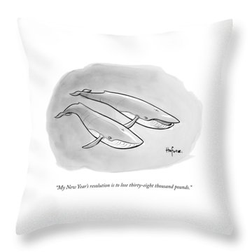 One Whale Says To Another Throw Pillow