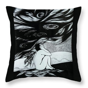 One Wing Throw Pillow