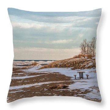One Winterday Throw Pillow