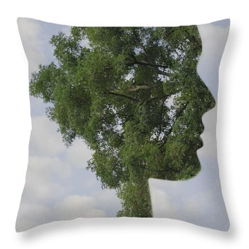 One With Nature Throw Pillow