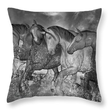 One With The Sea Throw Pillow